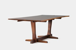 Pieces from this series, named after Nakashima's Conoid workshop, which he opened in 1957, focus on free-edge forms, respecting and conforming to the natural shape of the wood, and often employ cantilever technology.