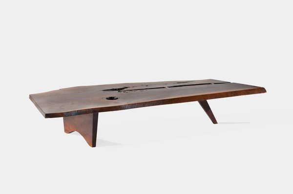 7. Slab Coffee Table  An example of one of Nakashima's most iconic designs, this large piece was crafted from walnut.