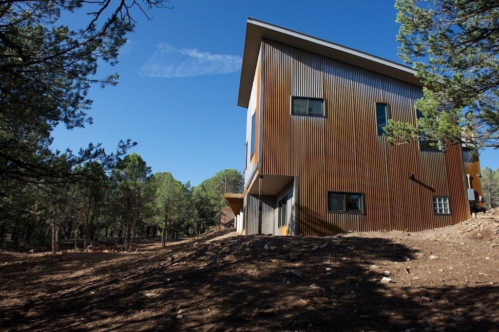 mountaintop modern home exterior