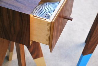In 2013, they obtained a business license in Pasadena, California, although they both are keeping their day jobs and each takes responsibility for different clients. Pictured, a detailed shot of the Minister Rafik Hariri side table.