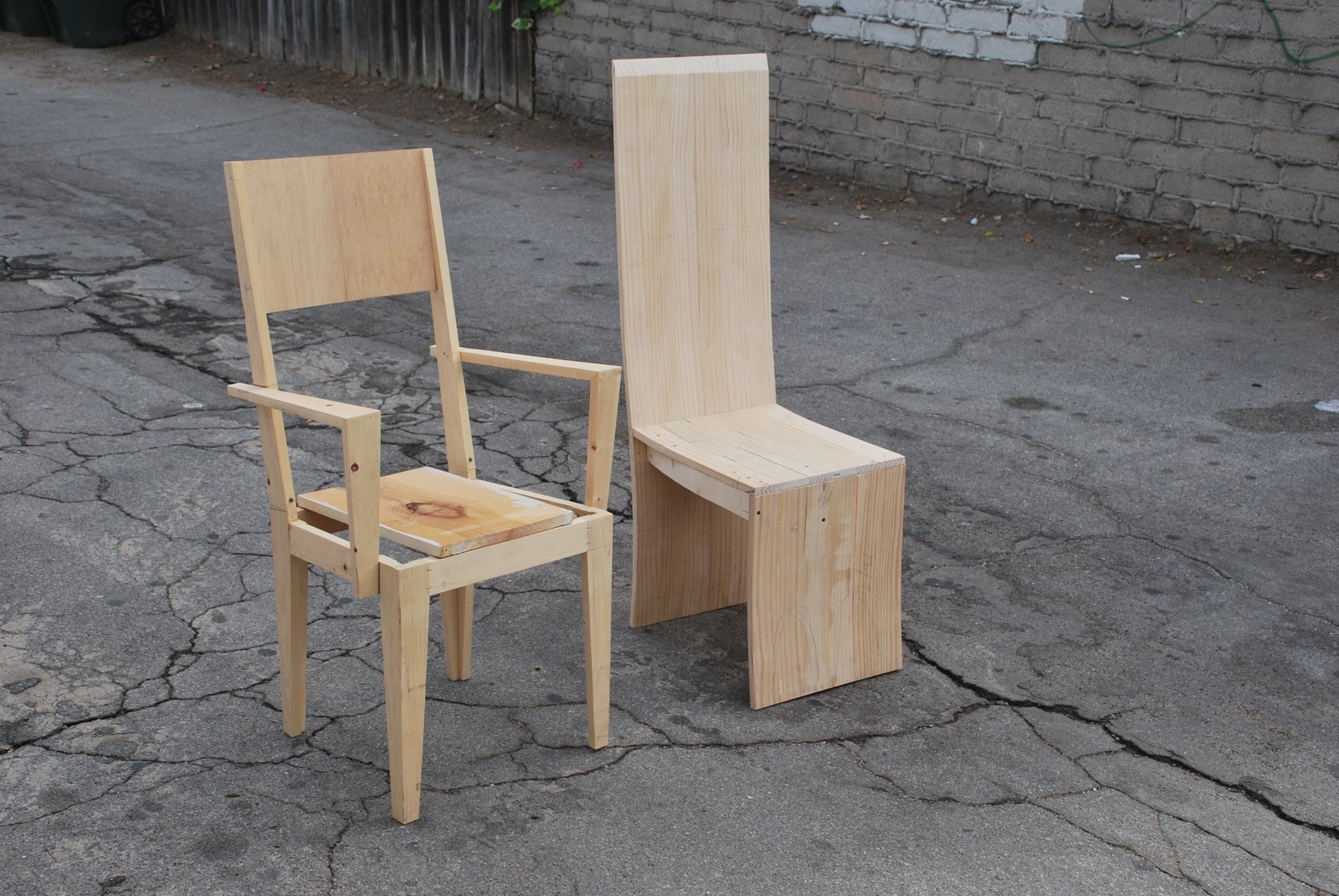 """When we delivered [the table], my dad and I stood on top of the table to show him how strong it was. [The client] was so impressed and asked us to design chairs to go with it,"""" Sevak says. The project, dubbed """"Five Chairs Times Two"""" are still in progress.  Search """"ton chair 77"""" from Profile: Karabachian Design Office"""