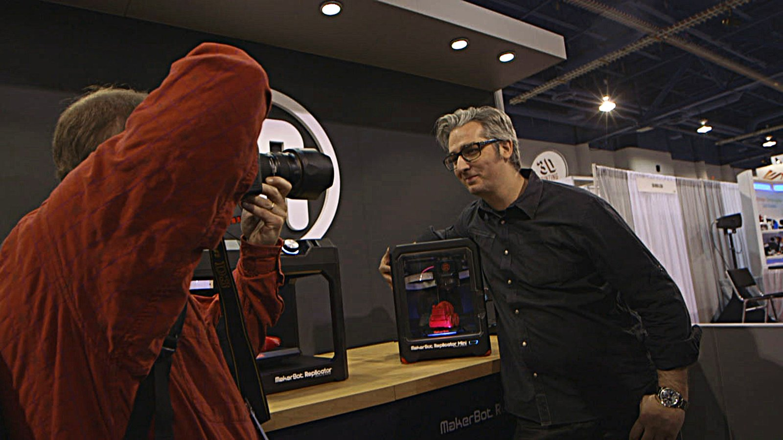 """Bre Pettis of Makerbot   Co-founder and CEO of Brooklyn's MakerBot, the charismatic Pettis once told WIRED magazine that one of his printers' designs was like """"Darth Vader driving Knight Rider's KITT car while being airlifted by a Nighthawk spy plane.""""  Photo 3 of 4 in 3D Printing Documentary at SXSW"""