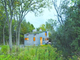 At home in the woods that surround it, the Nature Preserve House among John McLeod's favorite projects. It is also his current residence.