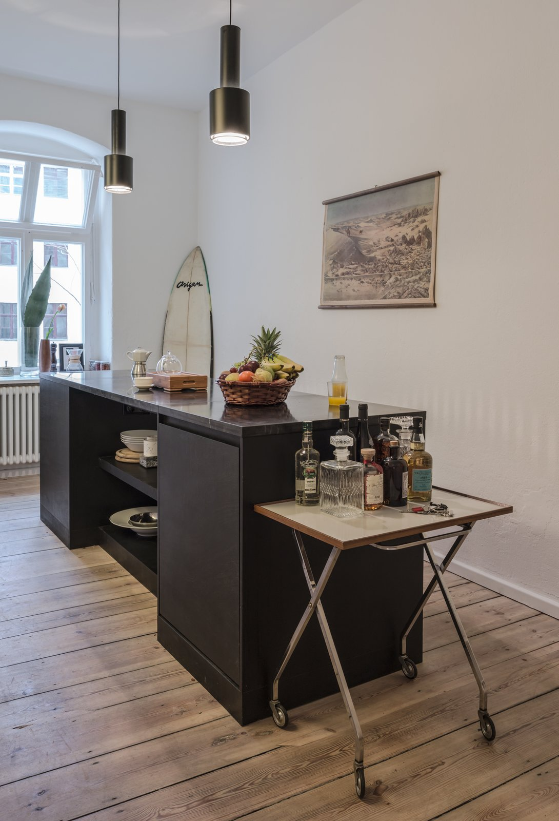 Kitchen of the Freunde von Freunden X Vitra Apartment  Completed in early March, the apartment has already been used for commercial shoots, as a showroom for press days, and for dinner among friends and colleagues.  Photo by Steve Herud  Photo 8 of 9 in Freunde von Freunden and Vitra's Berlin Apartment