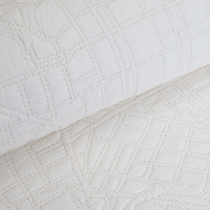Although from afar this ivory quilt looks simple, up close, the quilt has detailed neighborhoods like New York City's Battery Park and Los Angeles's Studio City. Available at the Dwell Store, $450  Quilts for Modern Bedrooms by Olivia Martin