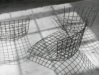 The production of Bertoia chairs for Knoll started in 1952.