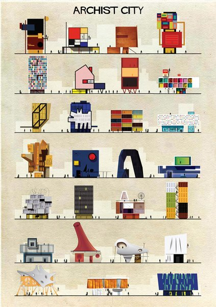 Federico Babina's Archist series has been making the internet rounds for its imaginative renditions of what houses designed by famous artists might look like.