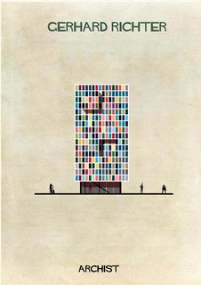 Contemporary painter Gerhardt Richter's imagined house, from Federico Babina's Archist series.