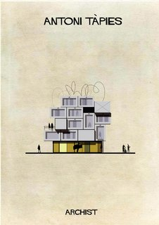 Catalan painter Antoni Tàpies's imagined house, from Federico Babina's Archist series.