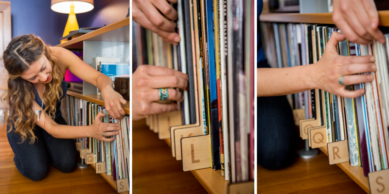 "After spending hours digging through her partner's extensive record collection, Kate Koeppel began to look for an organizational device for them. ""So much of what I found on the market was plastic, or just poorly made, it didn't make sense for me or my partner to buy disposable dividers for a music collection that is so carefully curated and personal,"" she says. ""Listening to music on vinyl is such a considered and thoughtful experience, the sound is so detailed and precise, I wanted to design something clean, long-lasting and effective that would help organize and display the collection."" After numerous requests from friends and several prototypes, Koeppel released the first collection in November 2013."