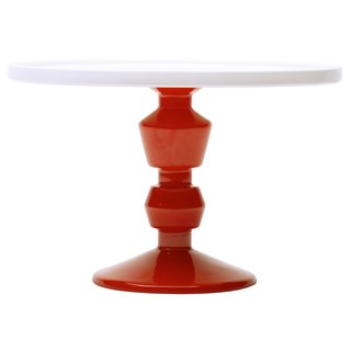 Jansen+Co Cake Stand Young Dutch design house Jansen+Co adds to its growing collection of brightly colored ceramic servingware with cheerful pedestal stands. Layout cupcakes, pies, cake of course, or anything you want to display on your tablescape. Traditional form meets contemporary styling in the minds of Jansen+Co founders Anouk Jansen and Harm Magis.  Find this item at the Dwell Store.