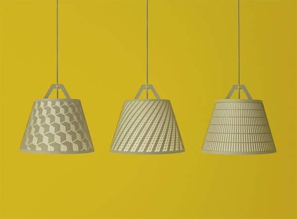 Take-Off Light  These flat-packed, laser-stitched lamp shade invites endless customizations.