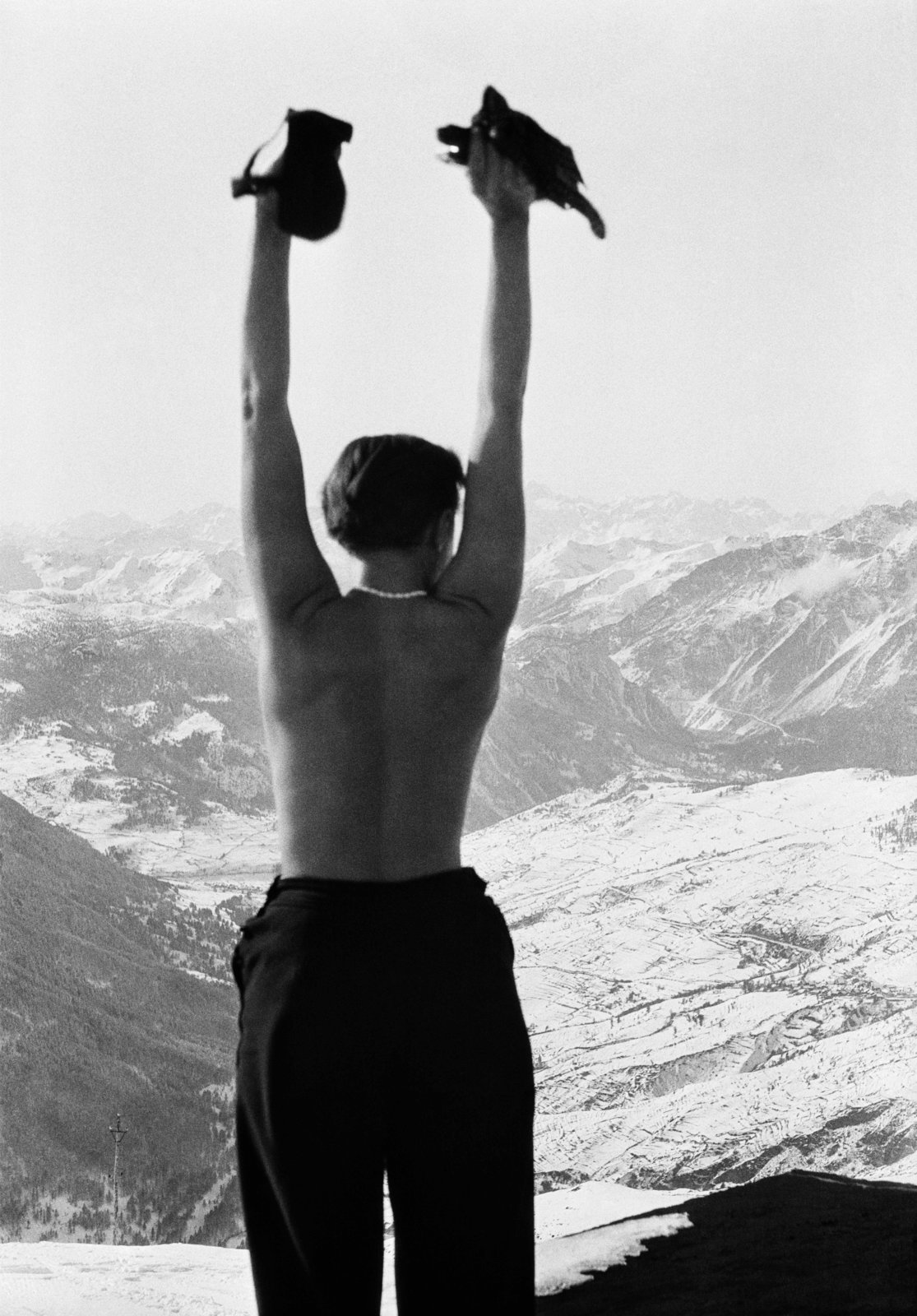 Charlotte Perriand in the mountains of Savoie, France, circa 1930. Copyright Archives Charlotte Perriand.  Photo 4 of 6 in Eye on Design: Charlotte Perriand