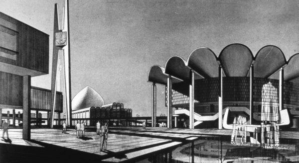 Walter Gropius, TAC (The Architects' Collaborative) and Hisham A. Munir, University of Baghdad Campus, 1957-, in Baghdad, Iraq.