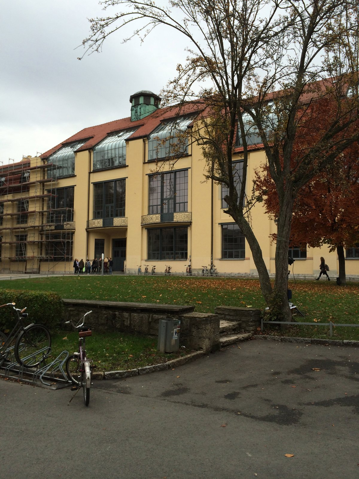 Founded in 1919 by Walter Gropius, the Bauhaus school was housed in the former Grand-Ducal Saxon Academy of Fine Arts and the School of Arts and Crafts by Henry Van de Velde. One of the founding principles of the school was to unify all creative efforts by combining art theory with practical workshops. The building shown here housed most of the classrooms, studios, and workshops. Renovated in 1996, it is now home to a new Bauhaus school, named and modeled after Gropius's original program, which was ended in 1933 due to pressure from the Nazi regime.  Photo 6 of 9 in Design Icon: Walter Gropius