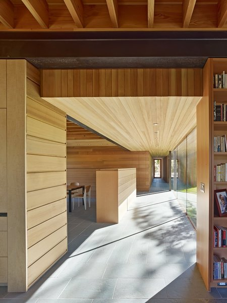 Maximizing daylight is only one of the sustainable design strategies used in the Low/Rise residence.