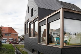 This house in Sint-Niklaas, Belgium, designed by BLAF Architecten, is a finalist in the single-family homes category.