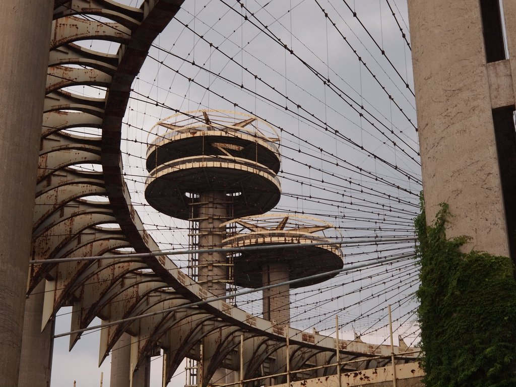 New York Pavilion 1964 World's Fair  The structure, designed by Philip Johnson, is now a rusted relic.  Photo 2 of 6 in World's Fair Pavilion: Restoring the Tent of Tomorrow