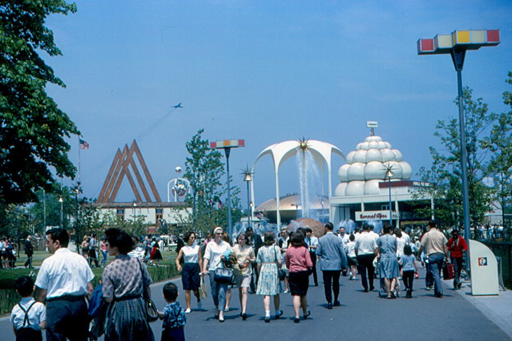 1964 World's Fair  It's often said that in the borough of Queens, one of the most culturally diverse places on Earth, everyday is a world's fair. The idiom rang true in 1964 during the World's Fair in Flushing Meadows, an optimistic celebration perched at a moment between space age giddiness and late-'60s turbulence (as this pitch-perfect period footage demonstrates).  Photo 4 of 6 in World's Fair Pavilion: Restoring the Tent of Tomorrow