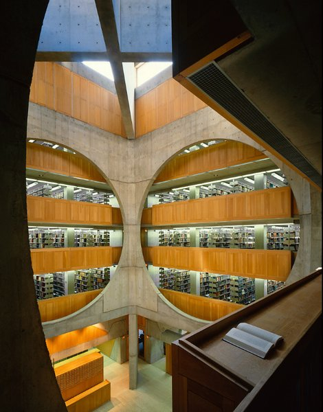 Grant Mudford, Phillips Exeter Academy Library by Louis Kahn.  buildings from 'Grant Mudford: Building' at Woodbury University