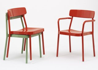 Chairs from the Grace collection by Samuel Wilkinson for EMU. See at Salone in Hall 16, Stand E51.