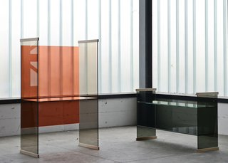 Glass furniture from the Diapositive collection by Ronan and Erwan Bouroullec for Glas Italia. See it at Salone in Hall 16, Stand C23-018.