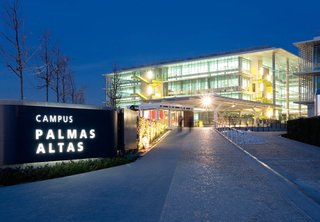 The Campus Palmas Altas serves as the corporate headquarters for Abengoa, one of Spain's largest engineering and energy companies, in Seville. Completed in 2009, it has been awarded LEED platinum status. Photo courtesy of Luis Vidal + Architects.