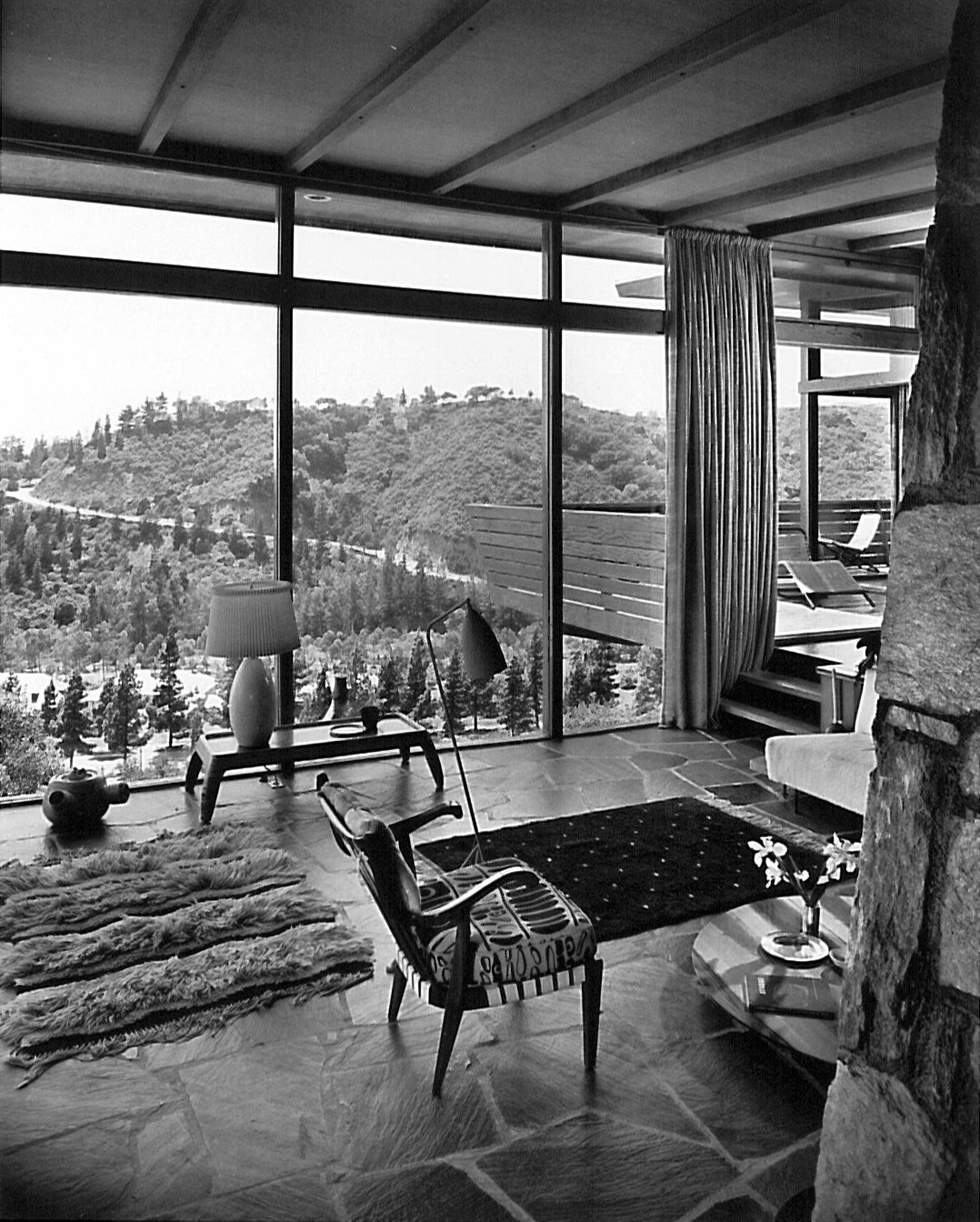 The interior of Grossman's home. Photographed by Julius Shulman.  Photo 4 of 8 in Design Icon: Greta Grossman