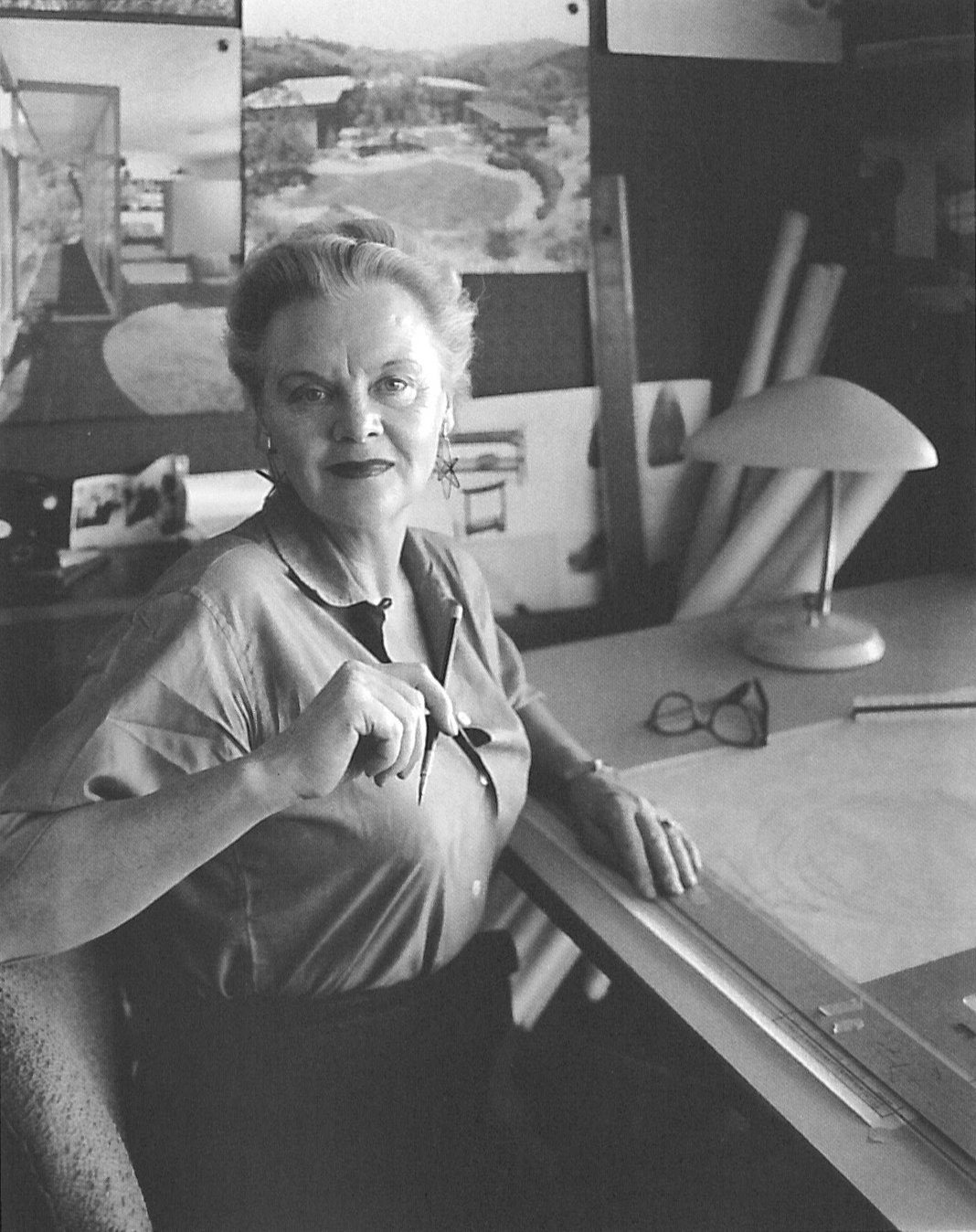 """Grossman made a name for herself in the male-dominated architecture scene in Los Angeles, saying working as a female architect """"kept you on your toes. You had to be a step ahead or else."""" Grossman photographed by Julius Shulman in 1959.  Photo 8 of 8 in Design Icon: Greta Grossman"""