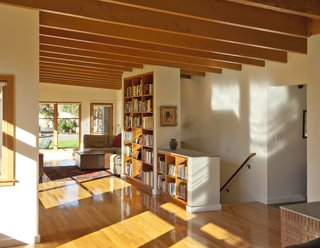Quarter sawn Oak wood floors spread across the home's shared rooms.