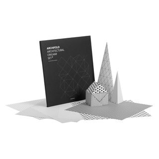 Archifold is a series of sheets of origami paper that are set in a modern black and white palette. Each patterned sheet is based on the framework used by architects to create plans. The set includes a diagram for structuring the paper into a small house, but the Archifold set can be made into many other designs. Balancing simplicity and complexity, Archidold can be used to create intricate or simple models.