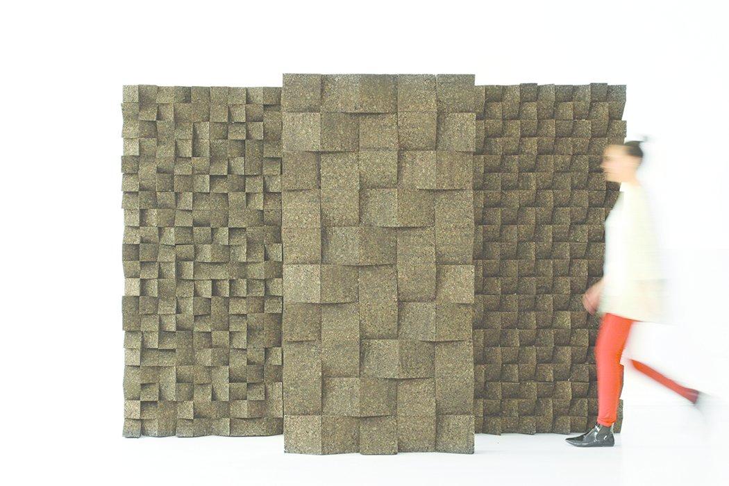 da Cruz's Braque modular system of acoustic tile.  Tania da Cruz by Diana Budds