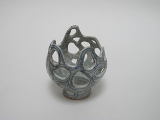 """Katie Kranz Ceramics   """"With Katie's work, I see a lot of ceramics where the shape and form of the vessel is typical. She's referencing a classic form, but I've never seen something like that, the organic sensibility, the way she's painted it. The piece has a life and a body, and she's just adorning it."""""""