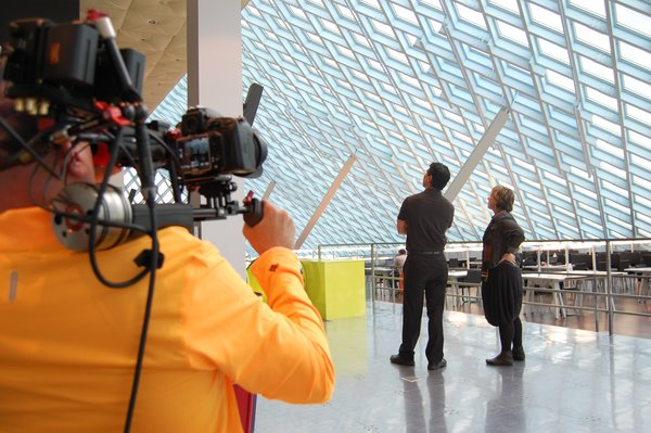 Cool Spaces at the Seattle Library  Chung, who has taught design at RISD and Yale, started the project seven years ago, when a recession and the subsequent struggles of many architecture firms made him consider how to make the work of architects more relevant. While there were whole networks devoted to homes and interior design, there wasn't a place on television to discuss great public spaces. In each episode, Cool Spaces focuses on a particular building type, such as libraries or stadiums, and breaks down three examples.