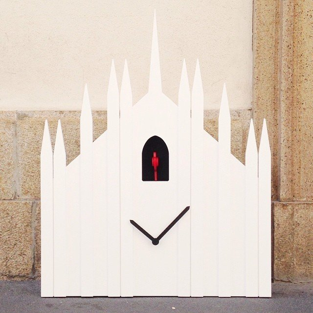 The Duomo Cuckoo Clock by Diamanti & Domeniconi, inspired by the Milan Cathedral, is on exhibit for Milan Design Week.  Photo 8 of 11 in Milan Design Week: Day One