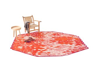 "Ronan & Erwan Bouroullec's Losanges collection, one of Nanimarquina's most successful, is a careful study in color and pattern transferred onto a technically complex rug. ""I am really proud of Losanges,"" Erwan Bouroullec says, ""not only because it provides some qualities and some textures that are so difficult to achieve in an industrial process, but also because it is the result of the order and the lovely disorder caused by the shades and the lines breaking the geometry of the diamonds."" Photo courtesy of Nanimarquina."