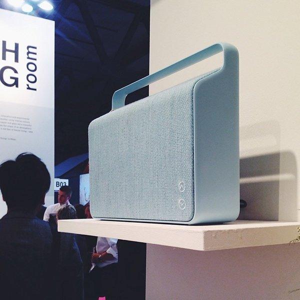 Trust the Danish to design a minimalist speaker upholstered in Kvadrat fabric.