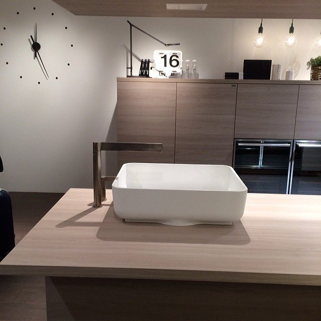 A new kitchen system by Nendo for Scavolini.  Kitchen from Milan Design Week: Day Four