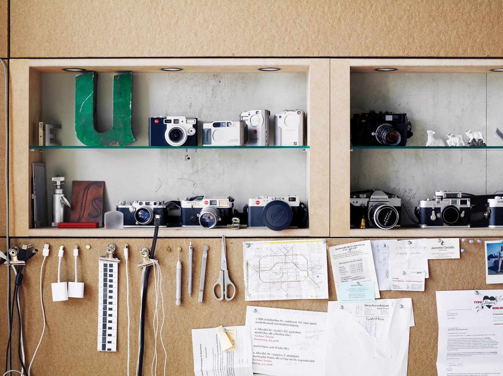"Office, Shelves, and Craft Room Room Type The office houses the letter ""U"" as well as cameras.  Photos from A Rational Approach"