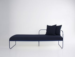 The Balcony daybed is an exercise in line and volume. Photo courtesy of Vera & Kyte.