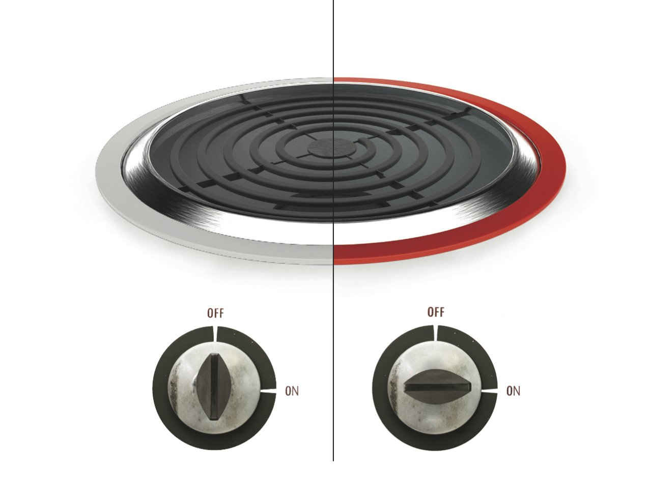 """When placed around an electric stove burner, """"ThermoRing""""—designed by San Francisco State University student Kayvan Mojtahedzadeh—indicates if it is too hot to touch, a common safety issue for individuals experiencing dementia.  Photo 5 of 5 in Designs for patients with dementia"""