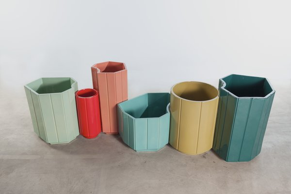 Mahdavi's glazed ceramic Landscape vases were cooked three to four times to get the right colors.