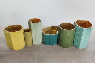 """""""The shapes that the vases make in a space are like punctuations in the space; they can be put together without anything inside them and form [a kind of] urban landscape,"""" Mahdavi says. """"Filled with flowers and greenery, they form a natural landscape."""""""