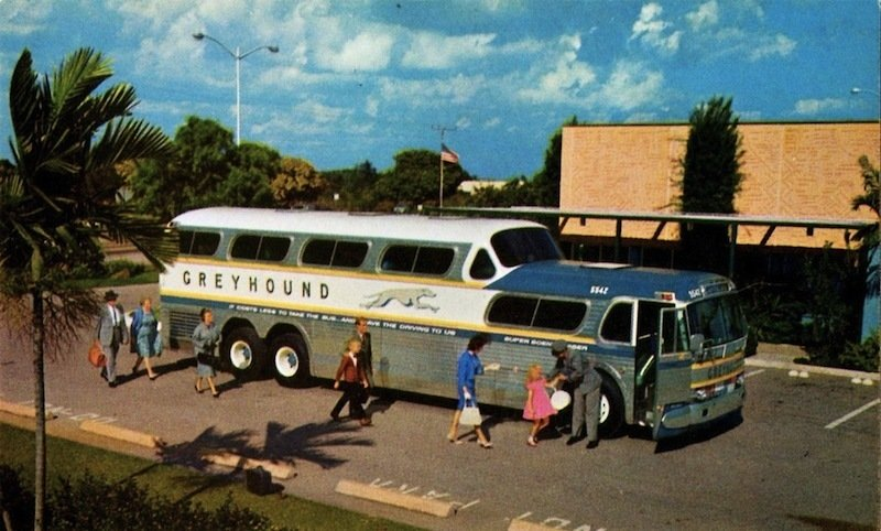Greyhound Scenicruiser (1954)  A midcentury highway icon, Loewy's domed bus design gave thousands a more picturesque view of roadside America during a golden age of motorcoach travel.   Photo Credit: Alden Jewell, Creative Commons  Photo 8 of 9 in Design Icon: 8 Works by Raymond Loewy