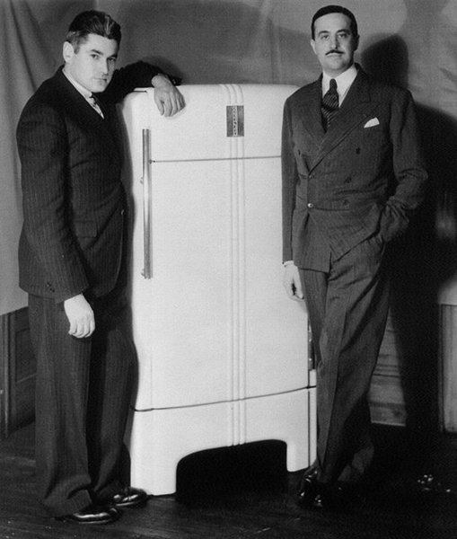 Coldspot Refrigerator (1934)  Loewy's signature touch even added grace and style to home appliances, including this reboot of Sears' classic refrigerator.