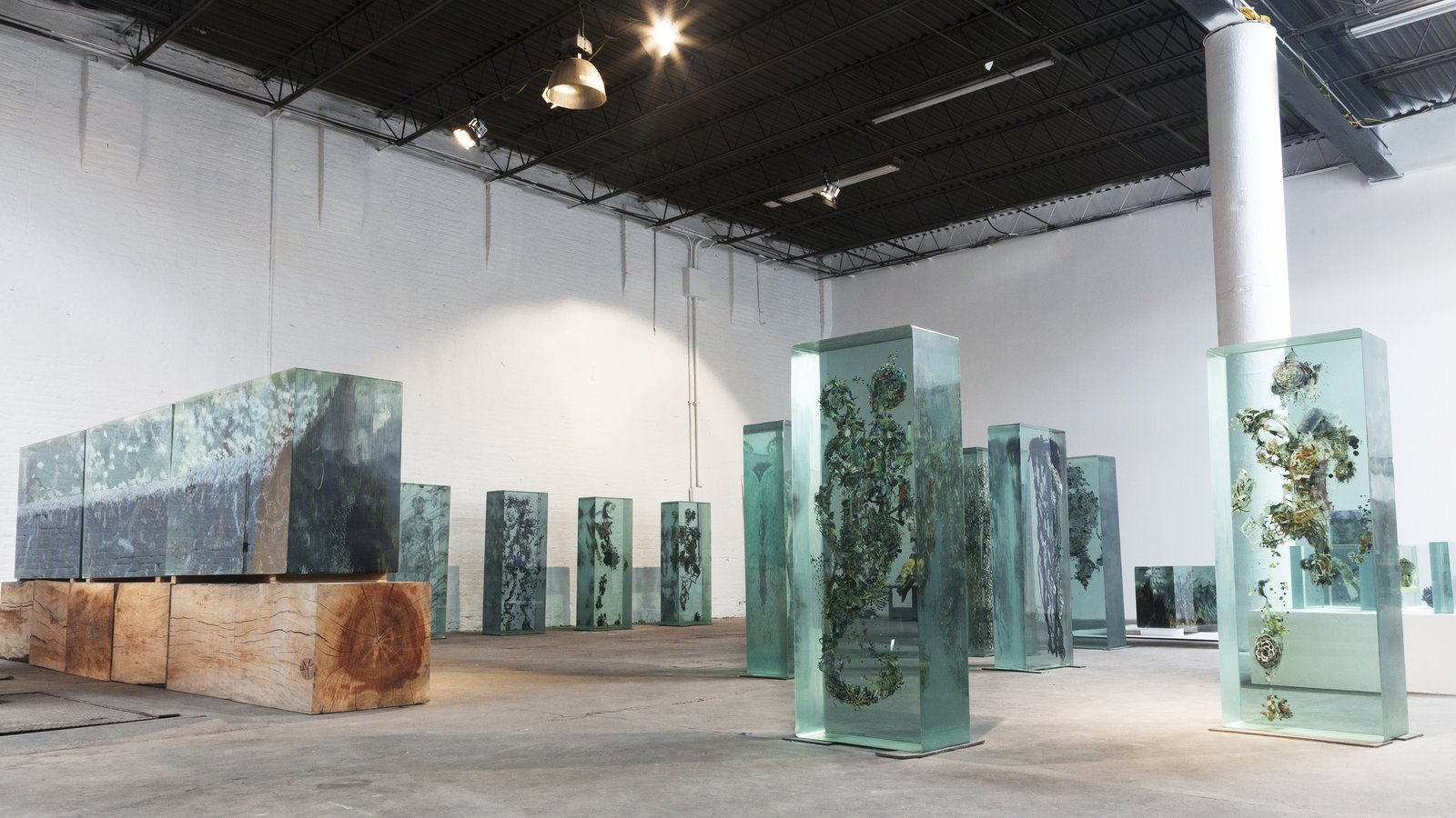 Yellin's studio, located in a Civil War-era warehouse in Red Hook, Brooklyn, houses his contemporary sculptures. Photo by David Deng.  Photo 2 of 6 in Glass Sculptures Use Magazines as Art