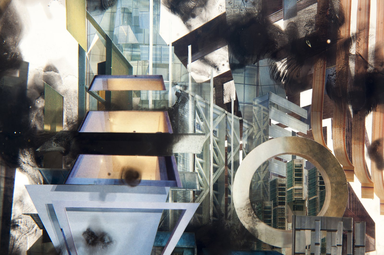 """A detail from """"City VIII.""""  Photo by David Deng.  Photo 6 of 6 in Glass Sculptures Use Magazines as Art"""
