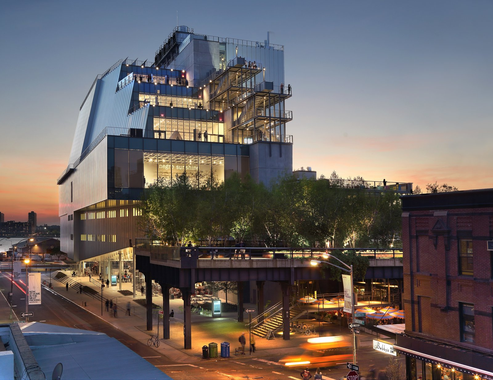 A dramatic departure from the Whitney Museum's previous home, a Marcel Breuer building on the Upper East Side, Renzo Piano's recently completed structure in the Meatpacking District opens itself completely to its surroundings.  Museum Love from These 10 Extraordinary Buildings Remind Us Why We Love NYC