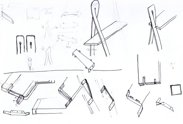 Early sketches of the shelf.