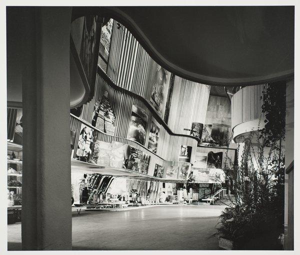 Finnish Pavilion, 1939 World's Fair, designed by Alvar Aalto. Gelatin silver print. Carnegie Museum of Art, Purchase: gift of the Drue Heinz Trust. Image courtesy of Carnegie Museum of Art, copyright Ezra Stoller/Esto, Yossi Milo Gallery.